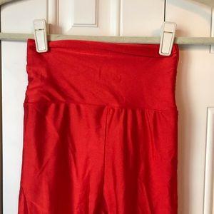 American Apparel Pants - American Apparel Red Disco Leggings M